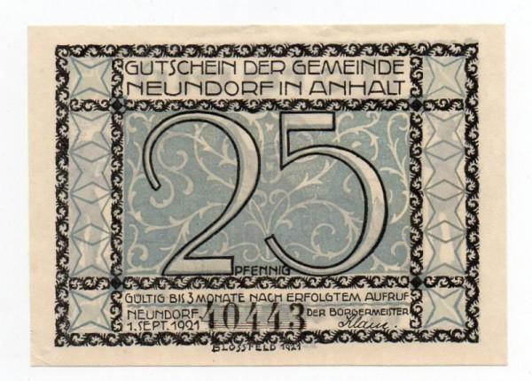 1.9.21, Kn 5,5 mm - (Sie sehen ein Musterbild, nicht die angebotene Banknote)