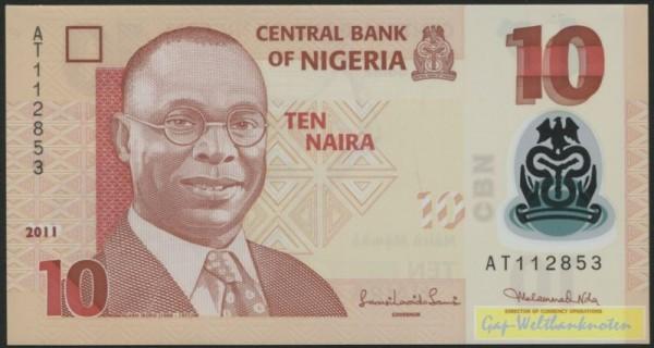 2011, Us. 16, KN 6st. - (Sie sehen ein Musterbild, nicht die angebotene Banknote)