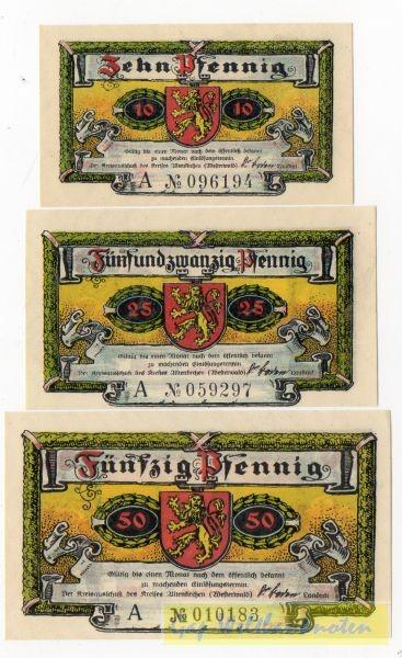 1921, 10, 25, 50 Pf, mit Serie - (Sie sehen ein Musterbild, nicht die angebotene Banknote)