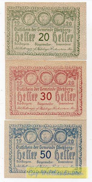 20, 30, 50h, ohne Aufl., ohne GSt., Schraffur teilweise - (Sie sehen ein Musterbild, nicht die angebotene Banknote)