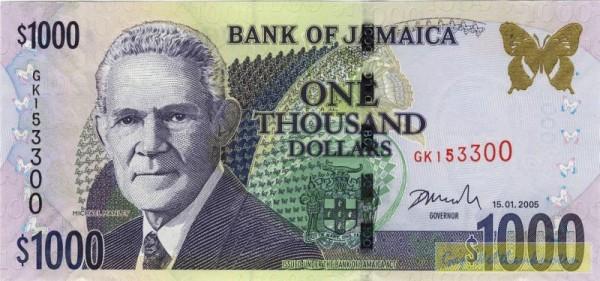 15.1.05 - (Sie sehen ein Musterbild, nicht die angebotene Banknote)