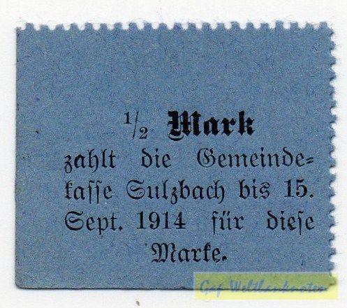 oD, Karton blau, Vs ohne St. Rs. St. - (Sie sehen ein Musterbild, nicht die angebotene Banknote)