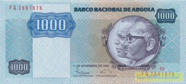 11.11.87, Us. 15 - (Sie sehen ein Musterbild, nicht die angebotene Banknote)