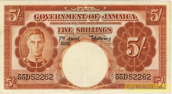 7.4.55 - (Sie sehen ein Musterbild, nicht die angebotene Banknote)