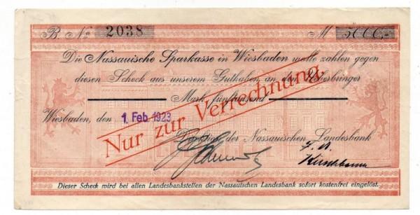 .2.23 - (Sie sehen ein Musterbild, nicht die angebotene Banknote)