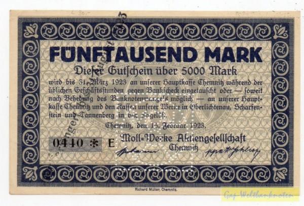 15.2.23, KN 6* E,H,J,N,O,P,R,T - (Sie sehen ein Musterbild, nicht die angebotene Banknote)