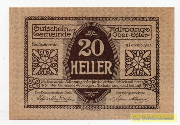 Vs. Udr 2, Rs Udr 1, ohne St - (Sie sehen ein Musterbild, nicht die angebotene Banknote)
