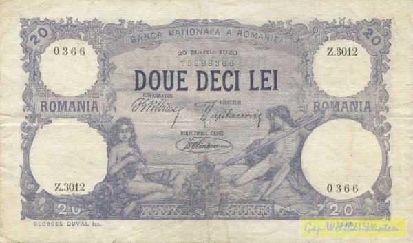 25.3.20, Fleck, s. III+ - (Sie sehen ein Musterbild, nicht die angebotene Banknote)