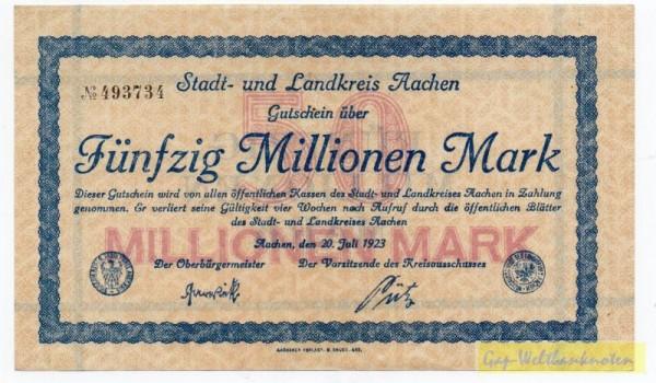 20.7.23, № KN 3,5 mm - (Sie sehen ein Musterbild, nicht die angebotene Banknote)