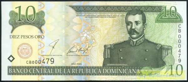 2001, DLR - (Sie sehen ein Musterbild, nicht die angebotene Banknote)