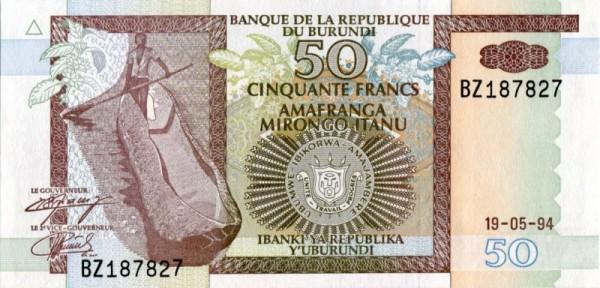 19.5.94 - (Sie sehen ein Musterbild, nicht die angebotene Banknote)