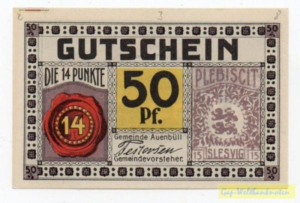 """oD, """"Flensborg Avis"""" - (Sie sehen ein Musterbild, nicht die angebotene Banknote)"""