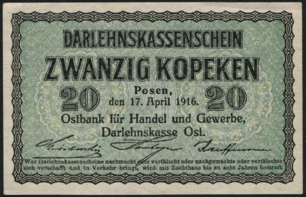 17.4.16 - (Sie sehen ein Musterbild, nicht die angebotene Banknote)