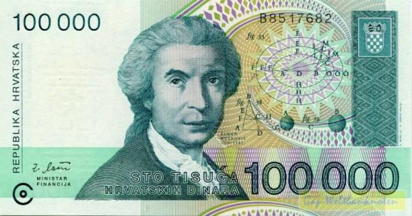 30.5.93 - (Sie sehen ein Musterbild, nicht die angebotene Banknote)