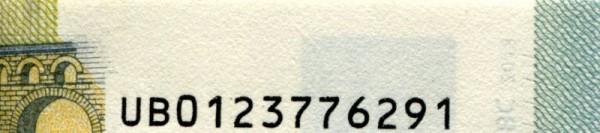 U002,003,004,005,006 - (Sie sehen ein Musterbild, nicht die angebotene Banknote)