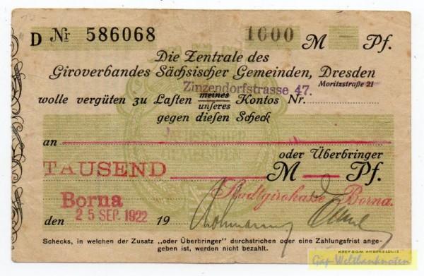 25.9.22, Datum gestempelt - (Sie sehen ein Musterbild, nicht die angebotene Banknote)