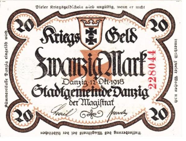 o.Wz., Rs. Text, Entwertungsstpl. - (Sie sehen ein Musterbild, nicht die angebotene Banknote)
