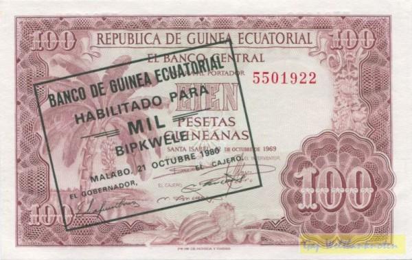 21.10.80, Üdr. - (Sie sehen ein Musterbild, nicht die angebotene Banknote)