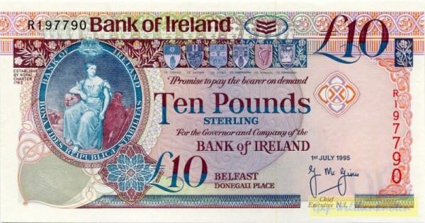 1.7.95 - (Sie sehen ein Musterbild, nicht die angebotene Banknote)