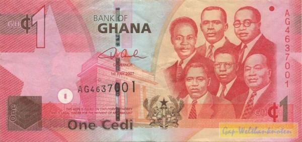 1.7.07 - (Sie sehen ein Musterbild, nicht die angebotene Banknote)