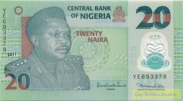 2011, Us. 16 - (Sie sehen ein Musterbild, nicht die angebotene Banknote)