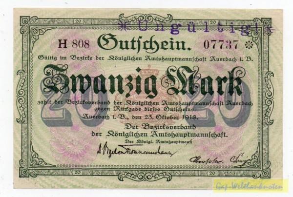 23.10.18, Wz Wellen, KN 8* H, entw. - (Sie sehen ein Musterbild, nicht die angebotene Banknote)