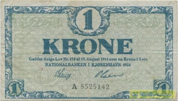 1916 A - (Sie sehen ein Musterbild, nicht die angebotene Banknote)