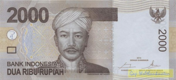 2016 - (Sie sehen ein Musterbild, nicht die angebotene Banknote)