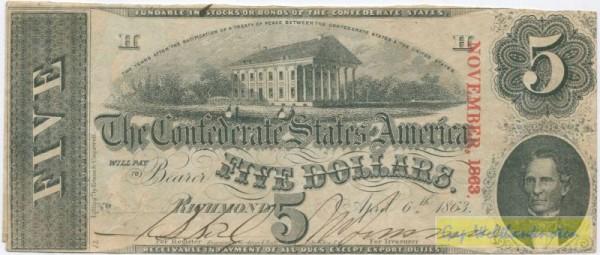 6.4.1863, o. Serie - (Sie sehen ein Musterbild, nicht die angebotene Banknote)