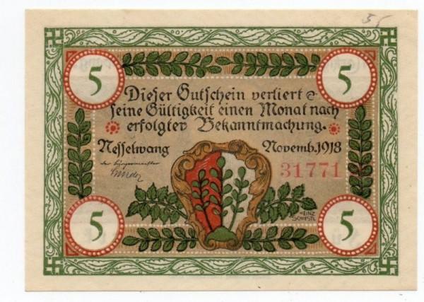 11/18, KN rot - (Sie sehen ein Musterbild, nicht die angebotene Banknote)