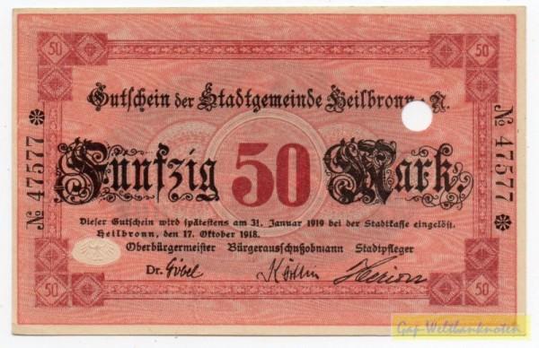 17.10.18, Pap dünn, № KN 8*, entwertet - (Sie sehen ein Musterbild, nicht die angebotene Banknote)