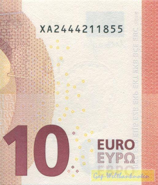 X001,002 - (Sie sehen ein Musterbild, nicht die angebotene Banknote)