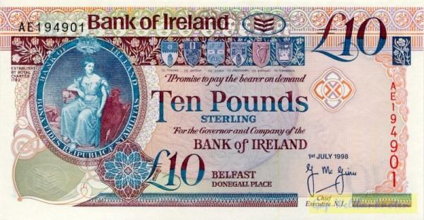 1.7.98 - (Sie sehen ein Musterbild, nicht die angebotene Banknote)