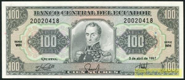 3.4.97, WH - (Sie sehen ein Musterbild, nicht die angebotene Banknote)