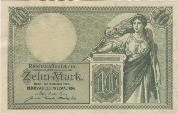 6.10.06, KN 7st - (Sie sehen ein Musterbild, nicht die angebotene Banknote)