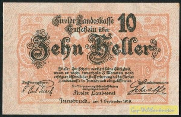 1.9.19 - (Sie sehen ein Musterbild, nicht die angebotene Banknote)