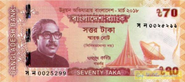 GA: Developing Bangladesh - (Sie sehen ein Musterbild, nicht die angebotene Banknote)