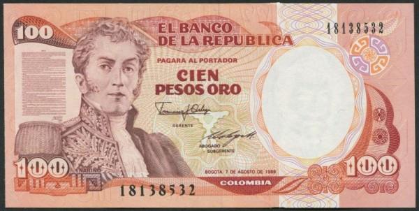 7.8.89, IBB - (Sie sehen ein Musterbild, nicht die angebotene Banknote)