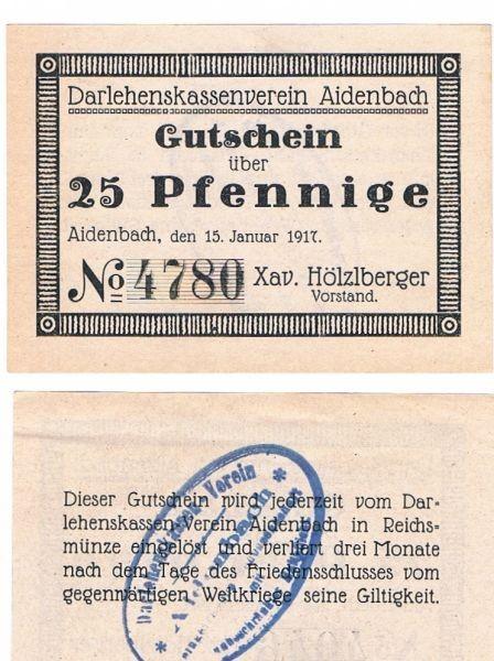 15.1.17, ohne Wz., Strichrahmen, Pap weiß - (Sie sehen ein Musterbild, nicht die angebotene Banknote)