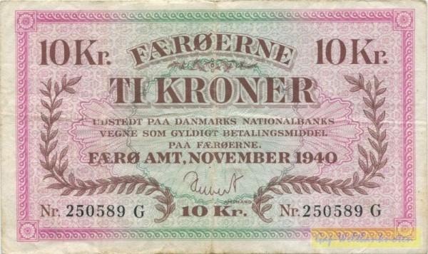 Nov. 1940, G - (Sie sehen ein Musterbild, nicht die angebotene Banknote)