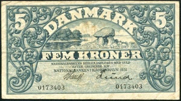 1931, ohne Serie - (Sie sehen ein Musterbild, nicht die angebotene Banknote)