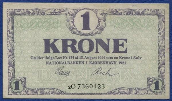 1921 2O - (Sie sehen ein Musterbild, nicht die angebotene Banknote)