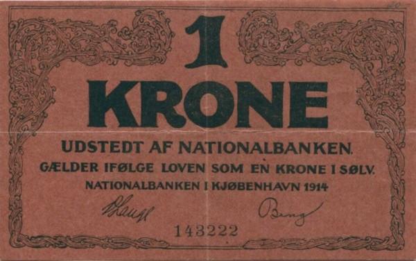 1914, KN 6st. - (Sie sehen ein Musterbild, nicht die angebotene Banknote)