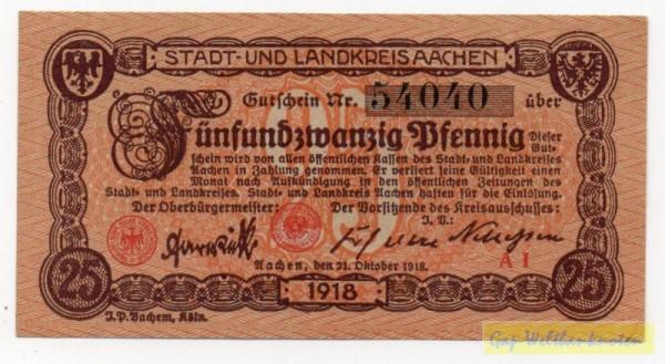 31.10.18, Pap. grau, KN 4,5 mm weit, 5stellig 16 mm - (Sie sehen ein Musterbild, nicht die angebotene Banknote)