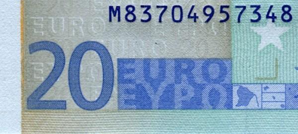 U018,021 - (Sie sehen ein Musterbild, nicht die angebotene Banknote)