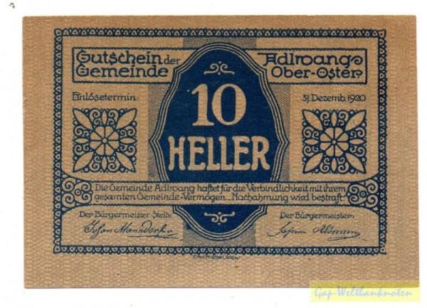 Vs. Udr 1 Rs Udr 2, ohne St - (Sie sehen ein Musterbild, nicht die angebotene Banknote)