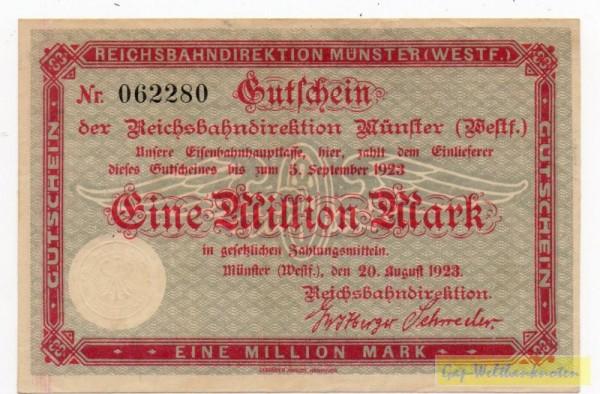 15.8.23, mit KN - (Sie sehen ein Musterbild, nicht die angebotene Banknote)