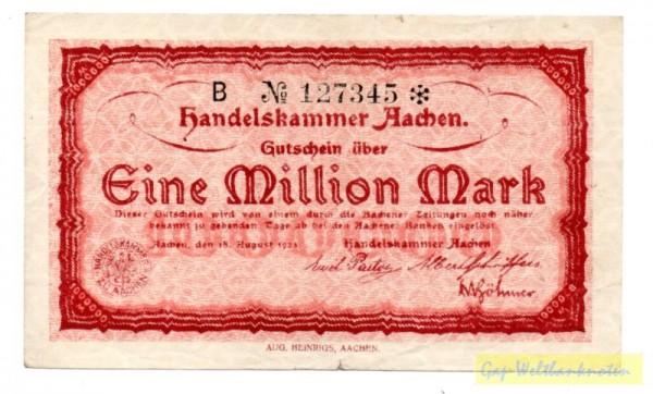 18.8.23, B № KN 6*s, Wz Sechseckflechtwerk - (Sie sehen ein Musterbild, nicht die angebotene Banknote)