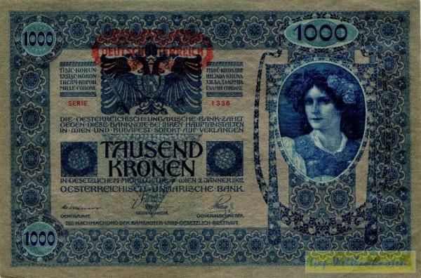 Rs. ungarisch, Udr. graugrün - (Sie sehen ein Musterbild, nicht die angebotene Banknote)