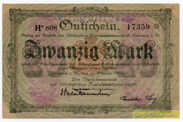 23.10.18, Wz Sechseckflechtwerk, KN 8* H, entw. - (Sie sehen ein Musterbild, nicht die angebotene Banknote)